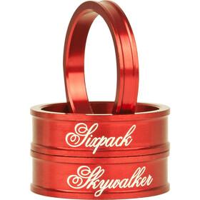 """Sixpack Skywalker Spacer 1 1/8"""", rojo"""